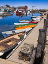 New England fishing village Royalty Free Stock Photo