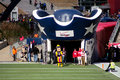 New england patriots entrance at gillette stadium view of the entranceway where the enter Royalty Free Stock Photo