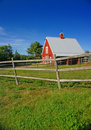 New England red barn Royalty Free Stock Photo
