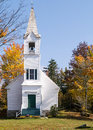 New England Traditional Church and fall foliage Stock Photography