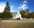 New England white church Stock Images