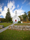 New England white church Stock Image