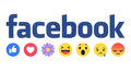 New Facebook like button Empathetic Emoji Reactions with flower Royalty Free Stock Photo