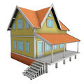 New family house. 3d illustration. Royalty Free Stock Images
