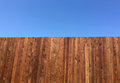 New fence and blue sky Royalty Free Stock Photo