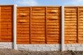 New fence panels Royalty Free Stock Photo