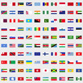 New flags of the world set Royalty Free Stock Photo