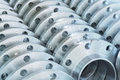 stock image of  New flanges in the workshop of the plant