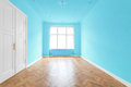 New flat in old building - empty room Royalty Free Stock Photo