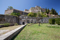 New fortress corfu town the of saint mark in Royalty Free Stock Images