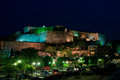 New Fortress at night, Kerkyra, Corfu Stock Photos