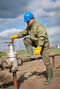 New gas-distribution post Royalty Free Stock Image