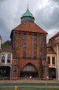 The new gate th century in slupsk poland nowa brama Royalty Free Stock Image