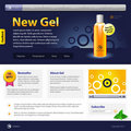 New Gel Website Design Template Royalty Free Stock Photo