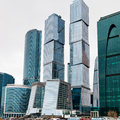New glass towers of Moscow city Stock Image