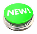 New Green Button Light Press Modern Latest Update Royalty Free Stock Photo