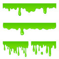 New green slime set on a white Stock Photos