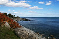 New hampshire coastline the rocky of the state of Royalty Free Stock Photos