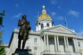 New hampshire state house concord nh usa in winter is the nations oldest built in Stock Photos