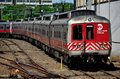New Haven, CT: Metro-North Rail Approaching Station Royalty Free Stock Photo