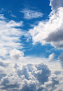 New heaven clouds beneath an ancient sky eternity Royalty Free Stock Photography