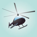 New helicopter flight drawing in sky illustration Stock Photos