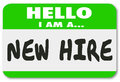 New Hire Nametag Sticker Green Employee Rookie Fresh Talent