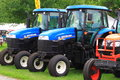 New Holland Farm Tractors Royalty Free Stock Photo