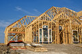 New home construction frame Royalty Free Stock Image