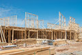 New home construction framing. Royalty Free Stock Photo