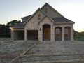 New home construction at sunset house under in community tx usa Stock Images