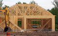 New home construction a is under in the subdivision Stock Image