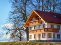 New home a house at a hill in austria Stock Photography