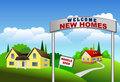 New Homes Illustration Royalty Free Stock Photo