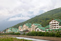 New hotel in wildlife mountains adler sochi russia Royalty Free Stock Photography