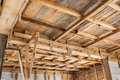 New house ceiling framing Royalty Free Stock Photos