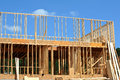 New house construction a under Royalty Free Stock Photography