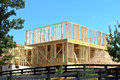 New house construction a under Royalty Free Stock Images