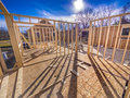 New house framing construction Royalty Free Stock Image