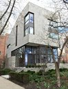New house old neighborhood this is a spring picture of a of ultra modern design in the iconic east lakeview of chicago illinois Royalty Free Stock Image