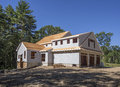 New house under construction residential in the suburbs Royalty Free Stock Photography