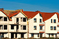 New houses under development clear blue sky Royalty Free Stock Photography