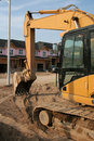 New Housing Backhoe Stock Photography