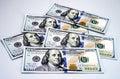 New 2013 hundred dollar bills Royalty Free Stock Photo