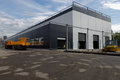 New industrial buildings of Oktyabrsky electric railway car repair plant Royalty Free Stock Photo