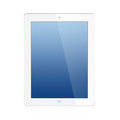 The New Ipad (Ipad 3) white Isolated Stock Images