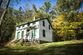 New jersey history historic houses of feltville a house in s deserted village Stock Photography