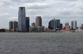 New jersey skyline city view of usa and hudson river Royalty Free Stock Photo