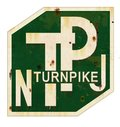 New Jersey Turnpike Sign Grunge Royalty Free Stock Photo