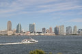 New jersey united states nj downtown skyline with hudson river Royalty Free Stock Images